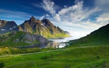 Wallpaper Pemandangan Nordic