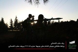 Mujahidin Jaish Al-Islam saat Ribath di garis depan mengawasi pergerakan milisi PYD di pedesaan Aleppo Utara. 2